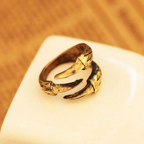 Trendy Retro Style Eagle Claw Shape Alloy Women's Finger Ring