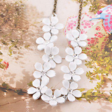 Fashion Camellia Pattern Design Necklace