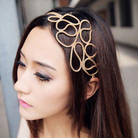 Chic Europe Style and Elegant Openwork Braided Flower Shape Hair Band For Women