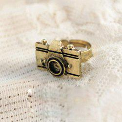 Camera Shape Embellished Ring - COLOR ASSORTED