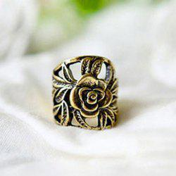 Retro Style Engraving Rose Shape Finger Ring -