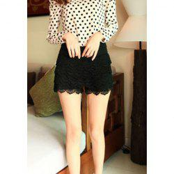 Ladies Lace Tiered Short Skirt Under Safety Pants Shorts -