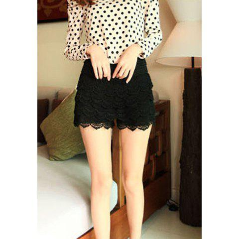 Outfit Ladies Lace Tiered Short Skirt Under Safety Pants Shorts