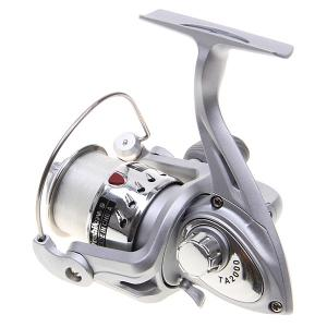 High Quality Yoshikawa TA2000 Spinning Fishing Reel with Line (Silver) -