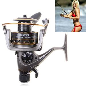 High Quality Yoshikawa CY6000 Spinning Fishing Reel (Silver with Yellow)