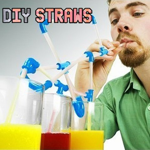 Fancy Flexible Design DIY Straws for Your Drinking