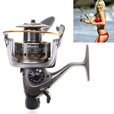 Outfits High Quality Yoshikawa CY6000 Spinning Fishing Reel (Silver with Yellow)