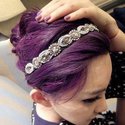 Fashion Gorgeous Style Rhinestone Embellished Vintage Hair Band For Women -