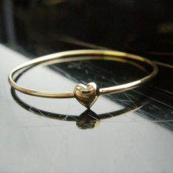 Sweet Simple Style Heart Shape Gilding Bracelet For Women
