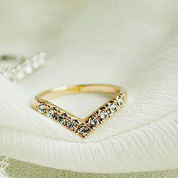 Gorgeous Style Rhinestone Inlaid Special Design Ring -