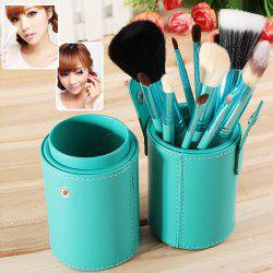 Fashion 12PCS Green Barrel Soft Make-up Brushes (Green) -