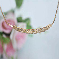 Rhinestone Embellished Geometric Necklace