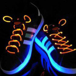 Special Stylish 3-Mode Colored LED Super Flashing Light Shoelaces for Halloween Party - ORANGE