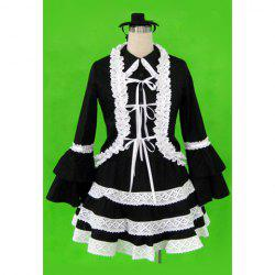 Sweet Lace Hem Design Lolita First Generation Halloween Cosplay Costume For Women