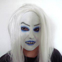 Top Grade Scary White Hair Ghost Mask For Halloween Party