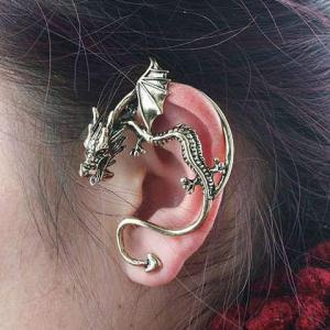 Gothic Style Dragon Shape Earring - Random Color Pattern