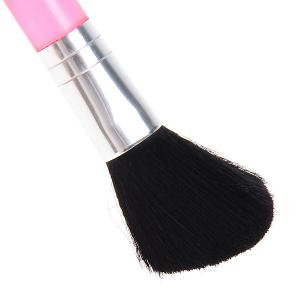 Fashionable C90 Pink Pole Brush Make-up for Women (Pink and Silver) -