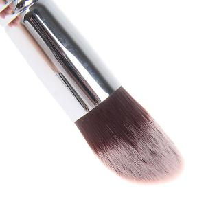 Fashionable Soft Cosmetic Copper Tube Brush Make-up for Women (Black and Silver) -