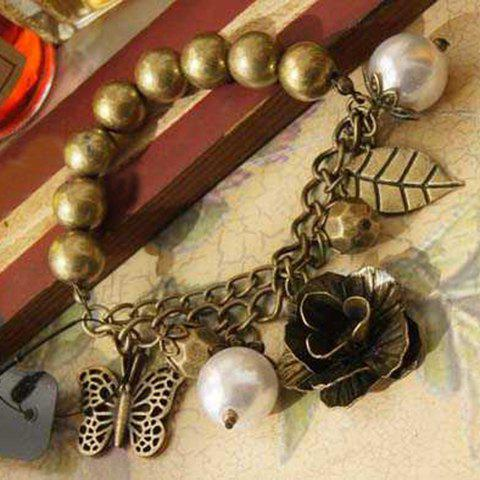 Outfits Retro Style Fake Pearl Beads Butterfly Bracelet
