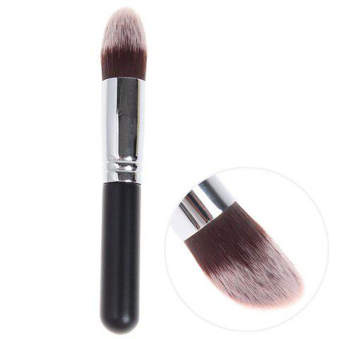 Outfit Fashionable Soft Cosmetic Copper Tube Brush Make-up for Women (Black and Silver)
