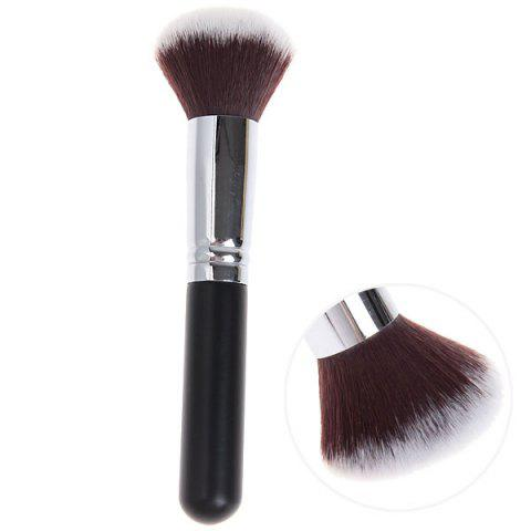 Best Fashionable Soft Cosmetic Copper Tube Round Head Brush Make-up for Women (Black and Silver)