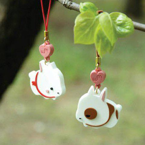 Latest Sweet Style Pair Cute Bunny Shape Pendant Mobile Chain - WHITE  Mobile