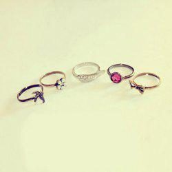Retro 5 Unique Style Rings For Women -