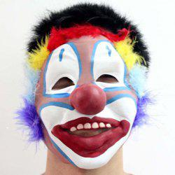 Classical Clown Face With Colorful Hair Mask of Christmas For Men