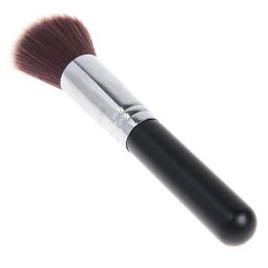 Fashionable Soft Cosmetic Copper Tube Flat Brush Make-up for Women (Black and Silver) -