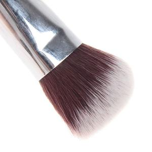 Fashionable Soft Cosmetic Copper Tube Oblique Brush Make-up for Women (Black and Silver) -
