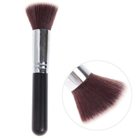 Sale Fashionable Soft Cosmetic Copper Tube Flat Brush Make-up for Women (Black and Silver)
