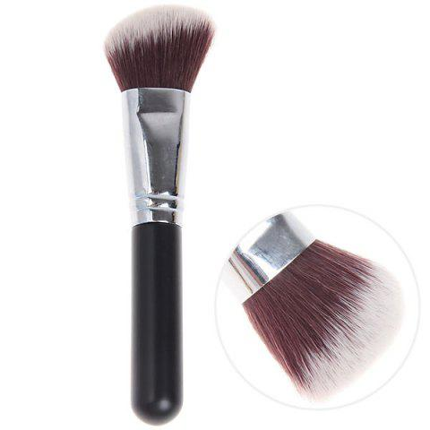 Outfits Fashionable Soft Cosmetic Copper Tube Oblique Brush Make-up for Women (Black and Silver)