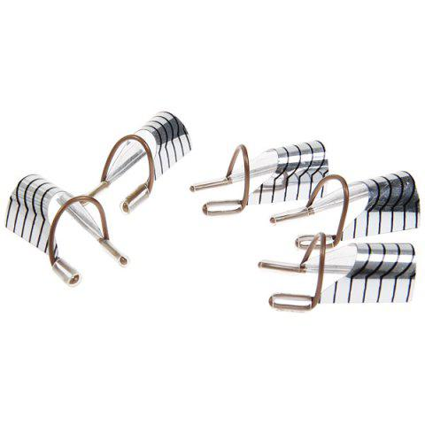 Shop 5pcs Aluminum Nail Protective Cover Clip Manicure Tool (Silver and Black) -   Mobile