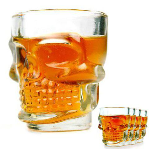 4pcs Crystal Skull Transparent Glass Cup