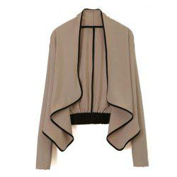Women's Ladies Long Sleeve shoulder pad All-Match Loose Short Jacket Coat -