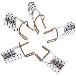 5pcs Aluminum Nail Protective Cover Clip Manicure Tool (Silver and Black) -