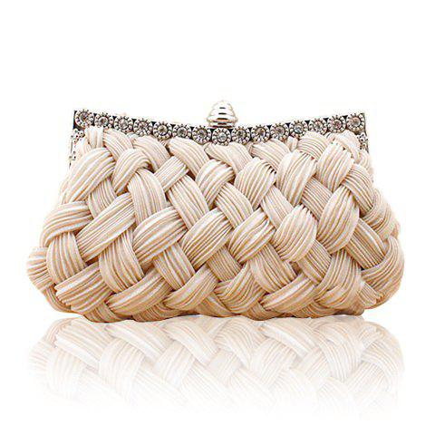 Sale Wedding Weaving and Pure Color Design Women's Evening Bag