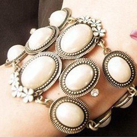 Fashion Korea Style and Elegant Flower and Pearl Embellished Bracelet For Women
