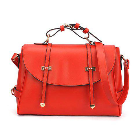 Discount Stylish Vintage Casual Candy Color and Belts Design Women's Tote Bag