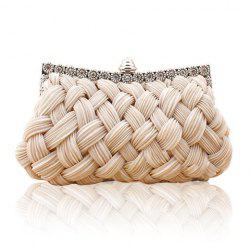Wedding Weaving and Pure Color Design Women's Evening Bag -