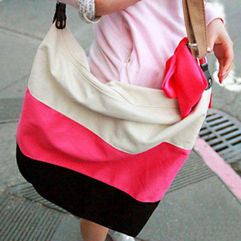 Stylish Laconic Casual Stripes and Canvas Design Women's Shoulder Bag от Rosegal.com INT