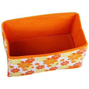 Folding Cosmetics Storage Box with Flower Image Design Desktop Storage Case -