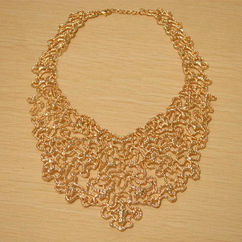 Latest Vintage Openwork Jacquard Pattern Embellished Necklace
