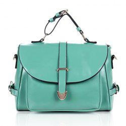 Stylish Casual Vintage Candy Color and Belts Design Women's Tote Bag -