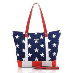 Stylish Casual Rivets and Flag Pattern Design Women's Shoulder Bag -
