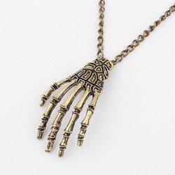 Punk Claw Pendant Sweater Chain Necklace - AS THE PICTURE