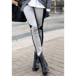 Stylish Color Matching Skinny Women's Leggings -