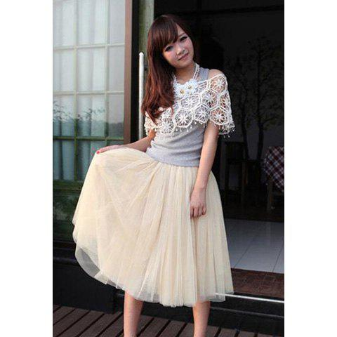 Unique New Women Fashion Princess Fairy Style 5 layers Tulle Dress Bouffant Skirt 4 Colors