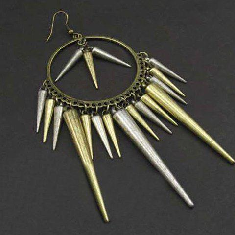 Affordable Rivet Tassels Drop Earrings