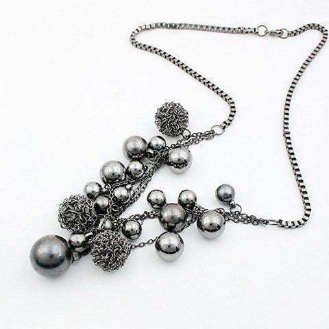 Best Ball Shape Beads Pendant Necklace AS THE PICTURE